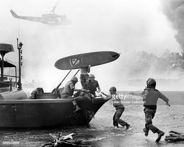 A scene from the film 'Apocalypse Now' set during the Vietnam War 1979