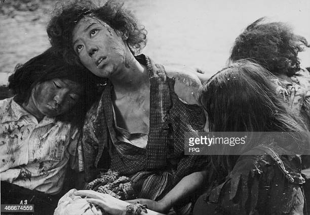 A scene from the film 'Hiroshima' funded by the Japanese School Teacher's Union to highlights the devastation of the atomic bomb at the end of World...