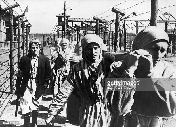 A scene from the film KAPO by the Italian director Gillo PONTECORVO shot in 1959 reconstitutes the life of women imprisoned in concentration camps