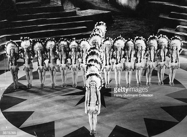 A scene from the film 'Whoopee' the first film choreographed by Buzby Berkeley Directed by Thornton Freeland and produced by United Artists
