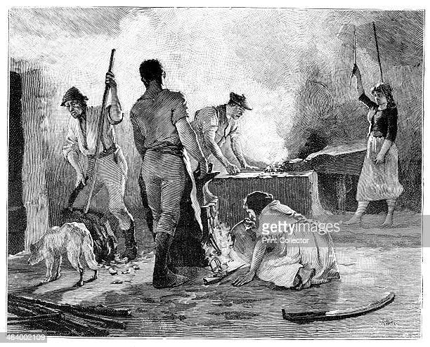 Scene from the Irish Rebellion of 1848 The Young Irelander Rebellion was also known as the Famine Rebellion From The Life and Times of Queen Victoria...