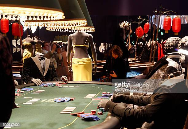 A scene from the James Bond film 'Casino Royale' is displayed as part of an exhibition dedicated to James Bond 007 'The Designing 007 Fifty Years of...