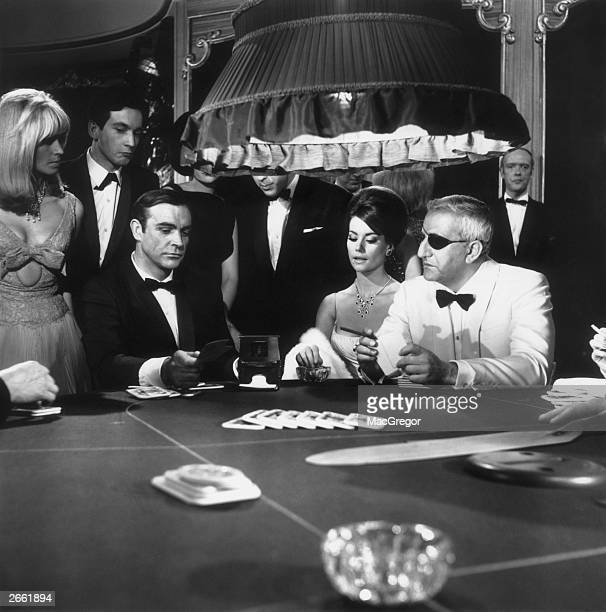 A scene from the James Bond film 'Thunderball' with Sean Connery Claudine Auger and Adolfo Celi