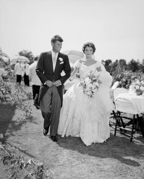 JFK and Jackie Kennedy at their wedding