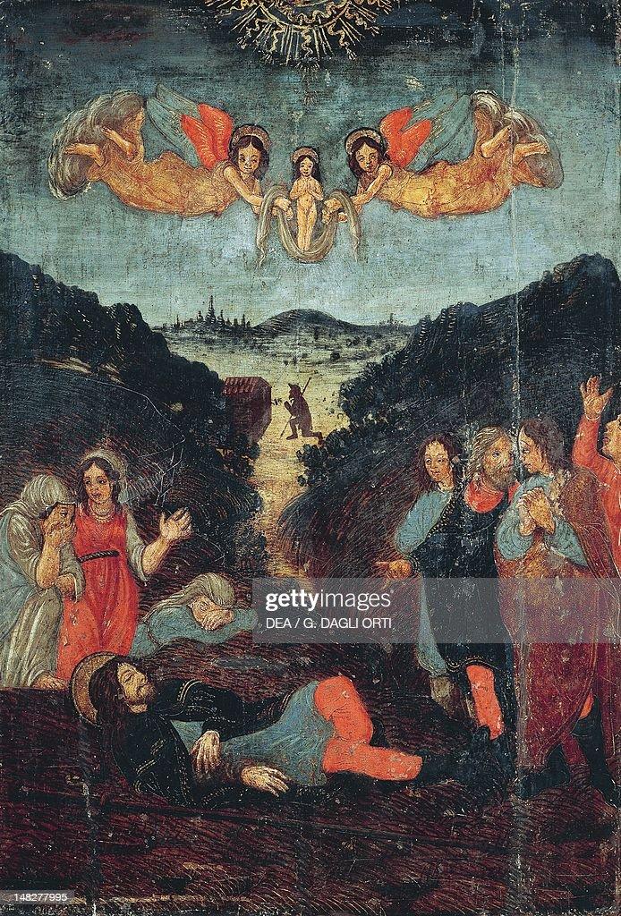 Scene From The Life Of St Roch Attributed To Bernardino Di Cola Del
