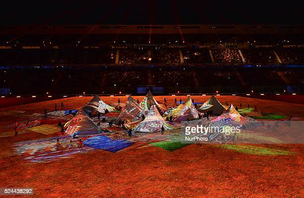 A scene from the Opening Ceremony of the ALLTECH FEI WORLD EQUESTRIAN GAMES 2014 at Stade Malherbe in Caen Normandy France 23 August 2014 Credit...