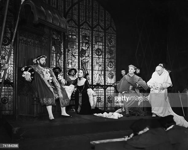 A scene from the play 'Henry VIII' believed to be by William Shakespeare and John Fletcher at Sadler's Wells Theatre London 6th November 1933 British...