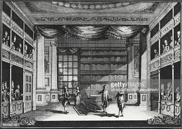 Scene from the play The school for scandal by Richard Brinsley Sheridan engraving United Kingdom 18th century London Victoria And Albert Museum