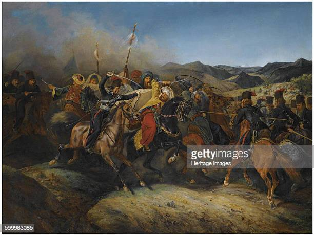 A scene from the RussoTurkish War Private Collection Artist Vernet Horace