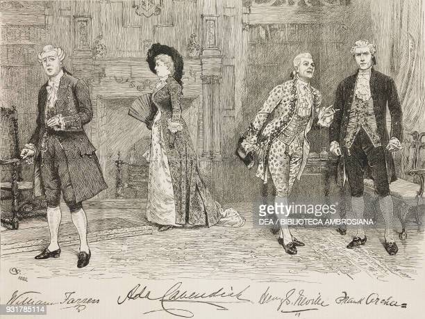 Scene from The School for Scandal play written by Richard Brinsley Sheridan at the Vaudeville Theatre London United Kingdom illustration from the...