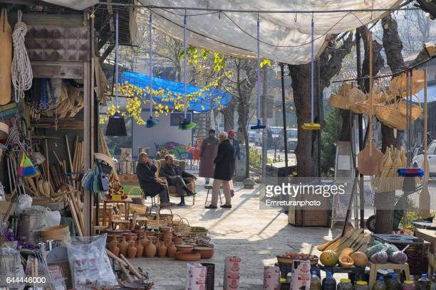 a scene from the shopping district of manisa. - emreturanphoto stock pictures, royalty-free photos & images