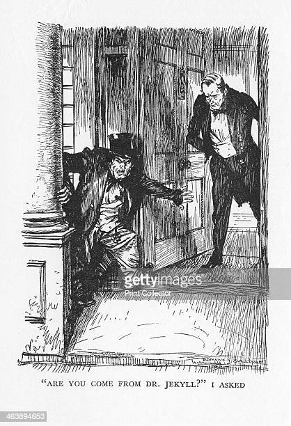 Scene from The Strange Case of Dr Jekyll and Mr Hyde by Robert Louis Stevenson 1927 Are you come from Dr Jekyll I asked Dr Lanyon opens his door at...