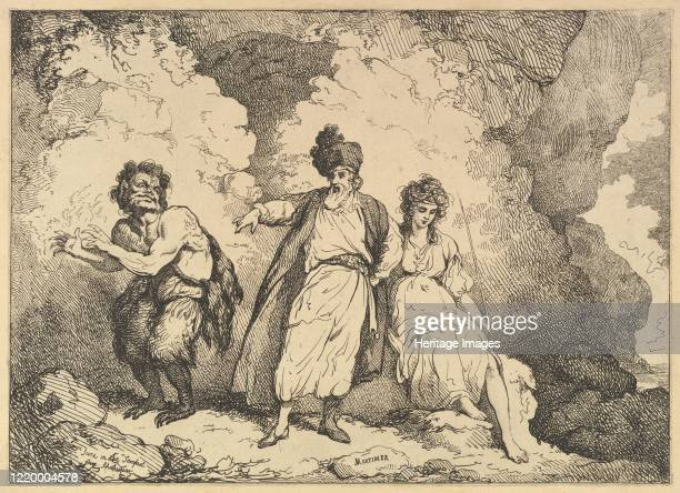 Caliban Prospero and Miranda [178387] reissued 1801 Artist Thomas Rowlandson