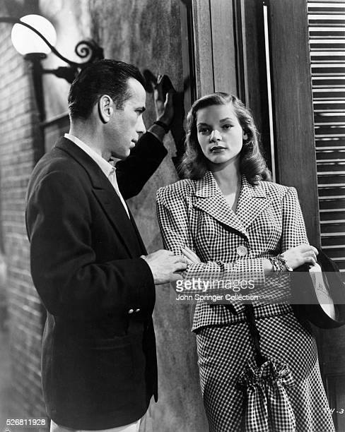 Scene from To Have and Have Not starring Lauren Bacall and Humphrey Bogart