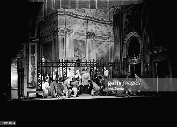 Scene from 'Tosca' by Puccini.