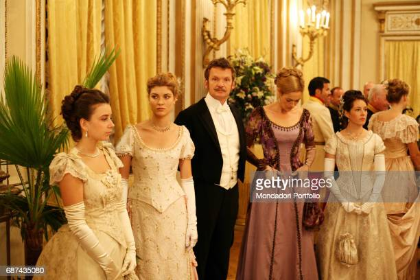 A scene from tv movie Kronprinz Rudolf tv movie directed by Robert Dornhelm Left to right the actresses Julia Cencig in the role of Marie Larisch and...