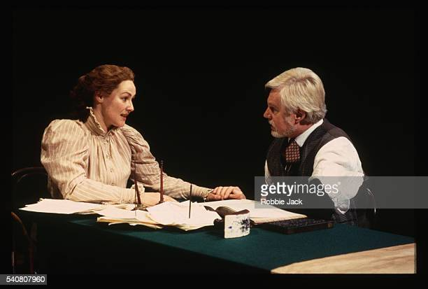 scene from uncle vanya - frances barber stock pictures, royalty-free photos & images