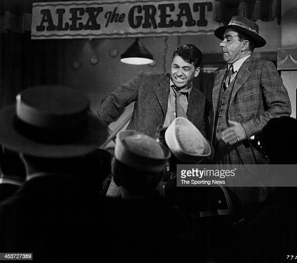 A scene from Warner Bros THE WINNING TEAM based on the life story of Grover Cleveland Alexander starring actor Ronald Reagan as Alexander circa 1952...