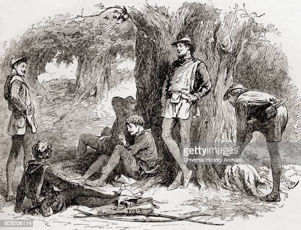 A scene from William Shakespeare's play As You Like It Act II scene 5Amiens Under the greenwood tree who loves to lie with me and turn his merry note...
