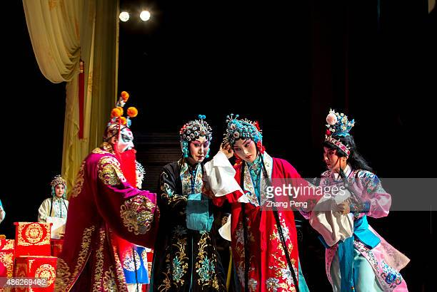 Scene in a popular play based on the women generals of the Yang Family legends in Song Dynasty Peking opera or Beijing opera is a form of traditional...