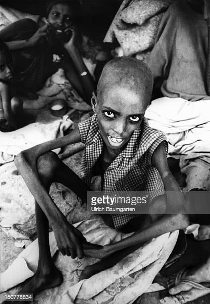 Scene in refugee camp Oddur in North Somalia