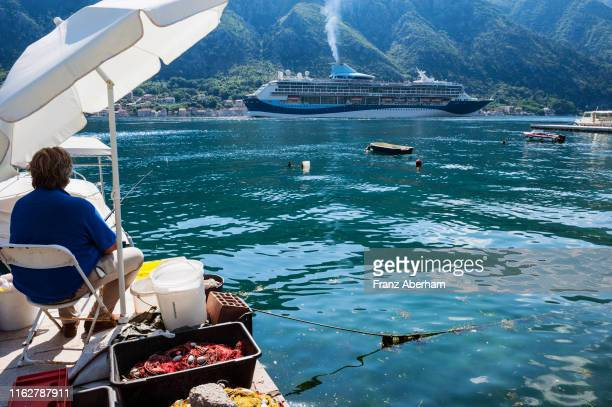 scene in the bay of kotor, montenegro - franz aberham foto e immagini stock