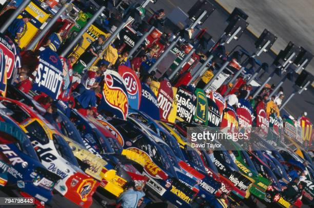 A scene in the pit area during the Food City 500 at the Bristol Motor Speedway in Bristol Tennessee 23rd March 1998