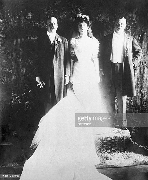 A scene in the White House in 1906 when Nicholas Longworth then a rising young politician married Miss Alice Roosevelt daughter of President Theodore...