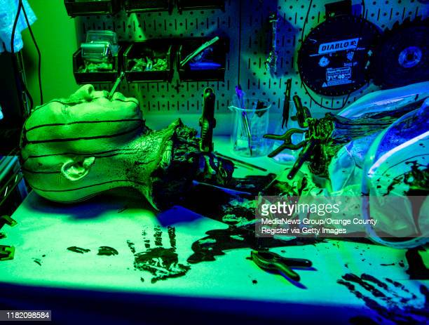 A scene inside the Green Room at the Prism Haunted House at the home of David Fefferman and Shasha JhaveriFefferman in Mission Viejo on Monday...
