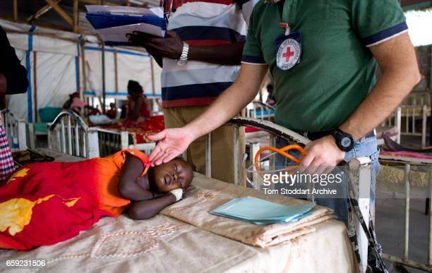 A scene inside the paediatric department of Malakal Teaching Hospital where ICRC doctor Giorgio Monti conducts his early morning rounds The ICRC...