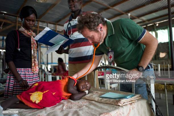 Scene inside the paediatric department of Malakal Teaching Hospital where ICRC doctor Giorgio Monti conducts his early morning rounds. The ICRC...