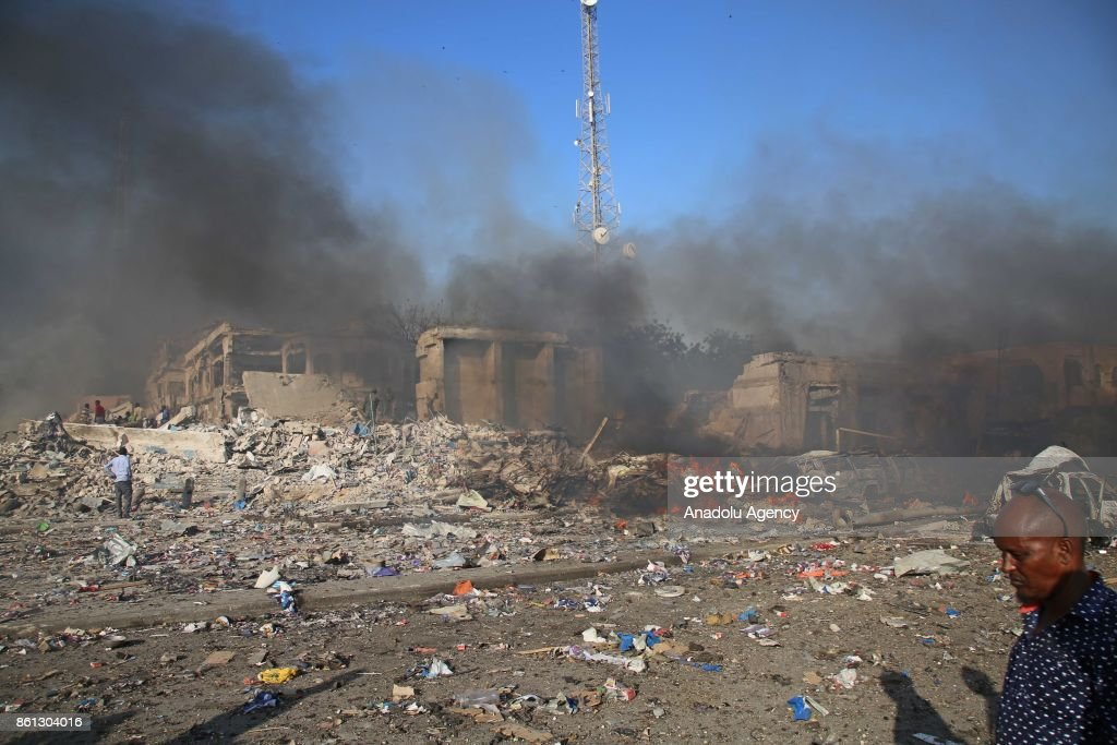 Bomb attack in Somalia : News Photo