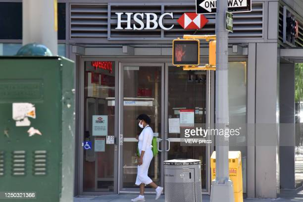 Scene of an HSBC branch on Wednesday, June 17, 2020. According to Reuters news agency, HSBC, the biggest bank in Europe plans to eliminate 35,000...