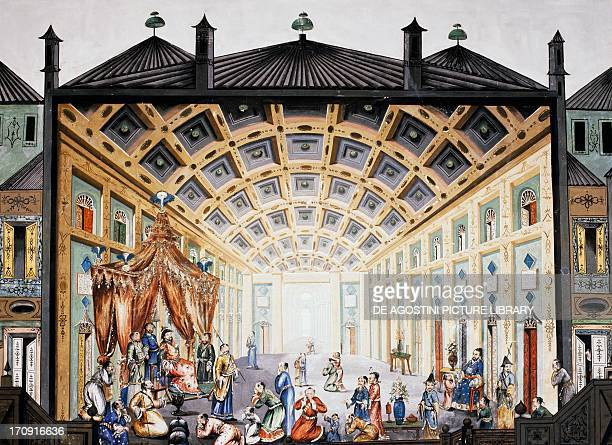 Scene of Chinese court life fresco Chinese Hall Royal Palace of Portici Campania Italy
