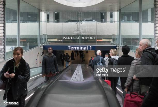 Scene of daily life at Charles de Gaulle Airport in Paris captured the