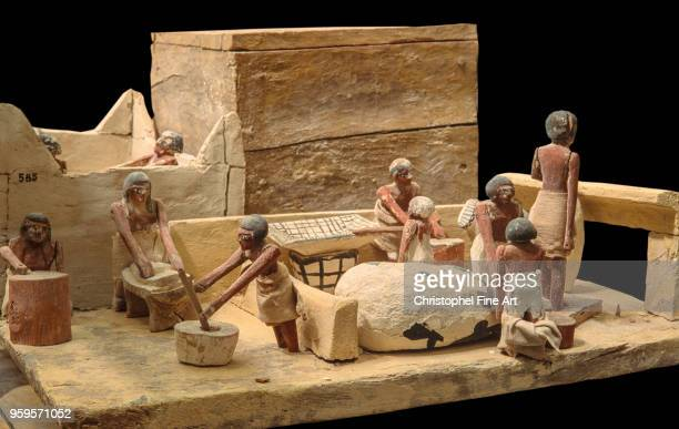 scene of daily life from the tomb of Meketra at Assiut Egyptian Art Egyptian Museum Cairo Egypt