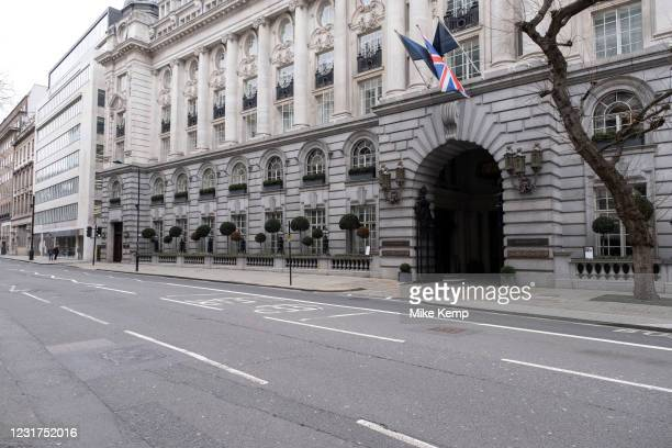 Scene of empty deserted streets at High Holborn as the national coronavirus lockdown three continues on 5th March 2021 in London, United Kingdom....