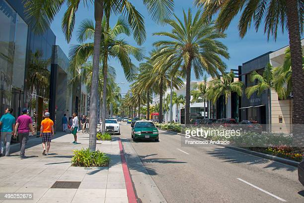 Scene of everyday movement Rodeo Drive Beverly Hills, Los Angeles, California.