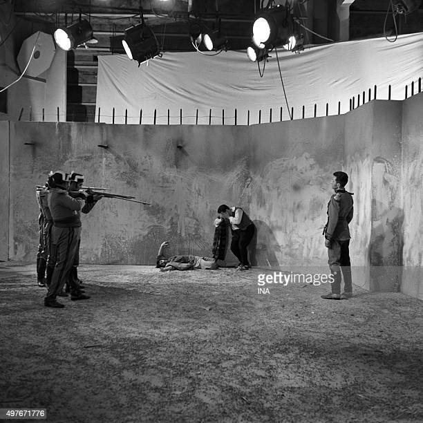 Scene of execution in 'Montserrat' Emmanuel Robles's play realized for the television by Maurice Cazeneuve in 1953