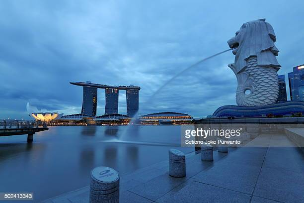 CONTENT] Scene of Marina Bay Marina Bay Sands and Merlion Singapore