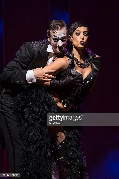 Scene of quotCabaret the Broadway musicalquot at the Rialto Theatre in Madrid's Gran Via Spain on September 25 2015 Set in Berlin in 1931 the musical...