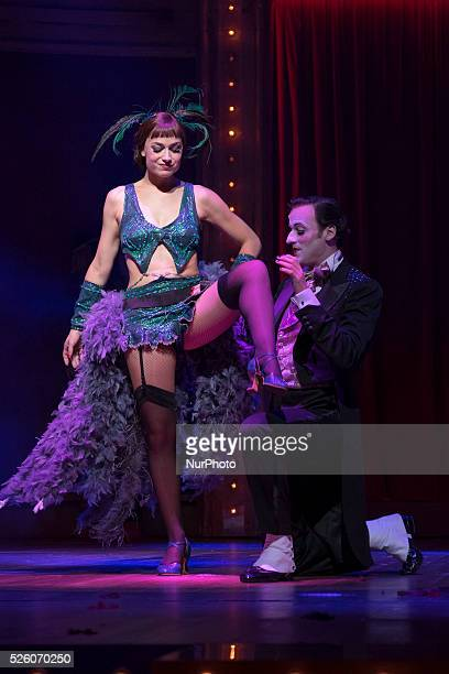 """Scene of """"Cabaret, the Broadway musical"""" at the Rialto Theatre in Madrid's Gran Via. Spain on September 25, 2015. Set in Berlin in 1931,..."""