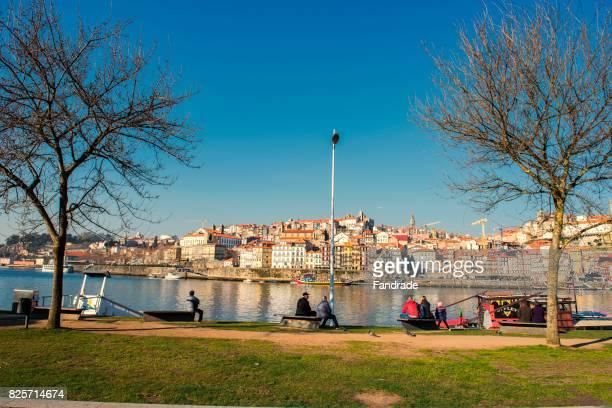 Scene of the Douro River, Porto, Portugal.