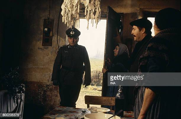 Scene of the television film 'Rémy' pulled of the television series 'The demarcation line' with an actor in the role of a German officer penetrating...