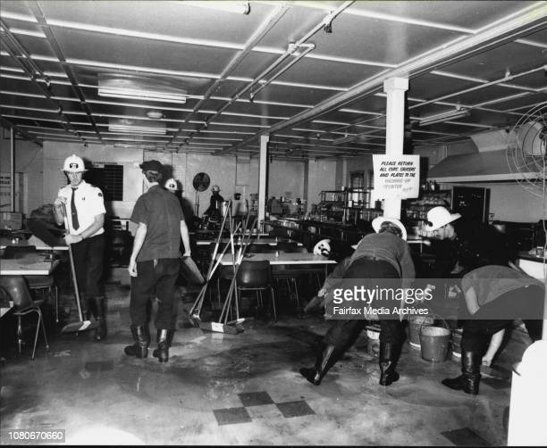 Scene on the 6th floor of the George St city store Nock and Kirby's where a ceiling collapsed in the cafeteria area October 21 1977