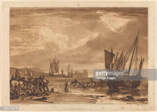 Scene on the French Coast, published 1807. Artist JMW Turner.
