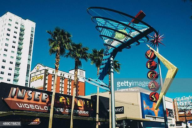 Scene on the original Las Vegas strip on Freemont St.
