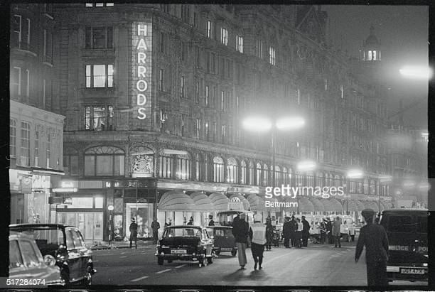 Scene outside Knightsbridges famous store Harrods after a bomb had exploded in the wallpaper and paint department on the 2nd floor A 10 minute...