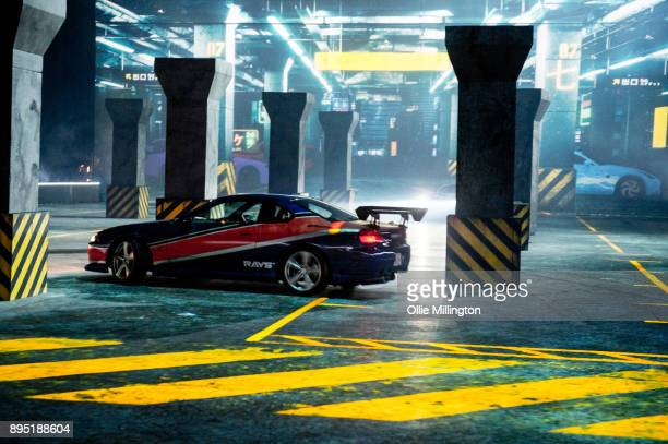 A scene playing out during the 'Fast Furious Live' technical rehearsal featuring 3D mapping landscapes at NEC Arena on December 18 2017 in Birmingham...