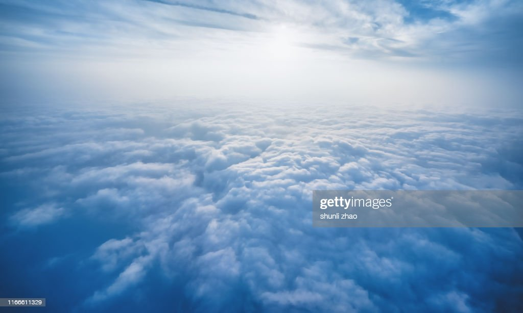 Scenery above the clouds : Stockfoto